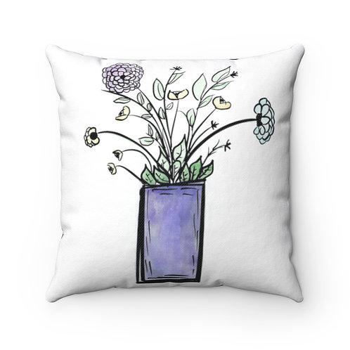 farmhouse pillow cover, floral cover, fun farmhouse pillow