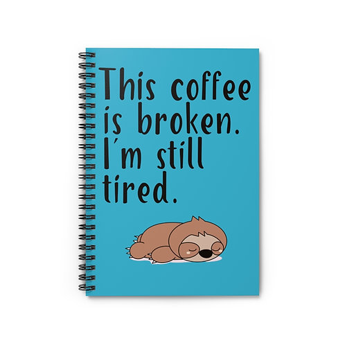 Sloth Notebook,Lined Notebook,School Supplies,Office Supplies,Stationary,Sloth