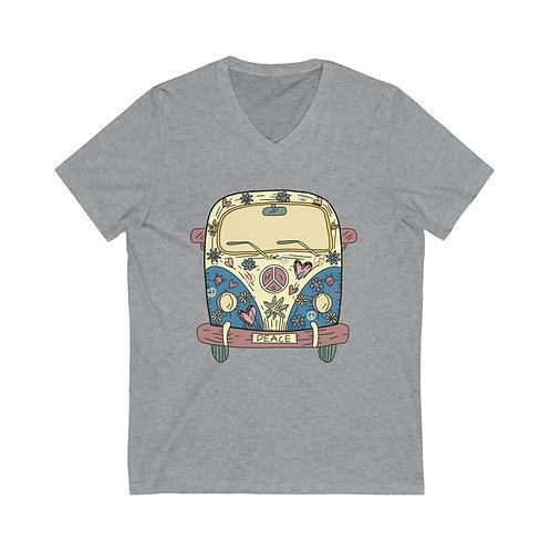 Retro shirt, Peace tee, Adventure tee, 70s tshirt, camper tee, Hippie VW BUS