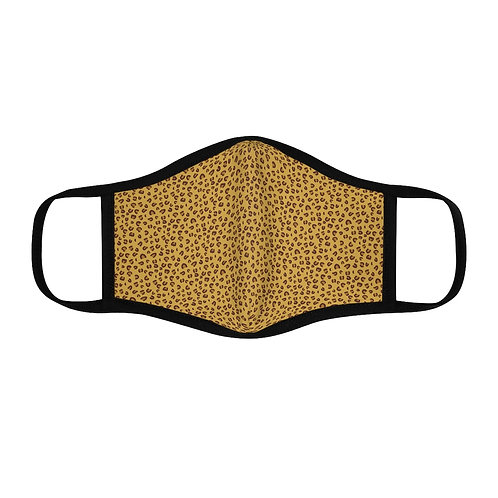 Cheetah Print Fitted Polyester Face Mask