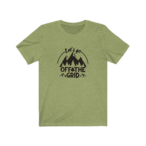 Off the grid shirt, Let's go, off the grid tee, Mountain Shirt, hiker shirt