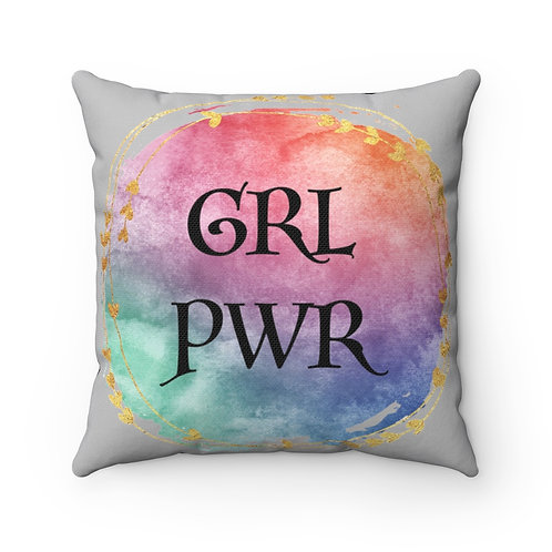 Girl Power Pillow Cover, Watercolor, GRL PWR