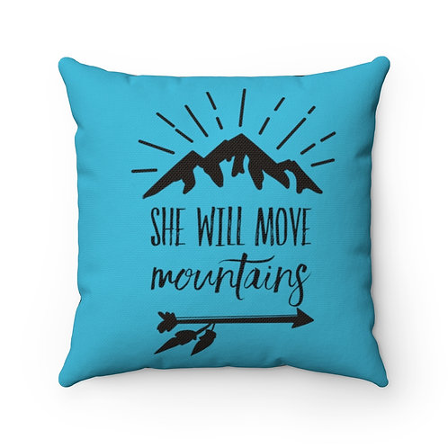 She Will Move, Mountains, Baby Girl, Pillow cover, Hiking Baby Decor