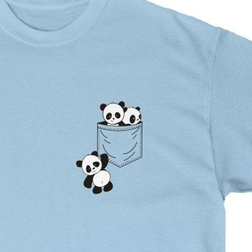 Panda Shirt, Panda T-Shirt,Cute Panda Shirt, Carrying Panda in Pocket