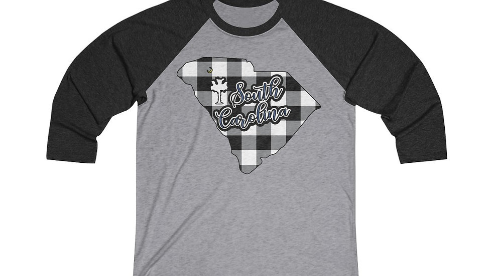 South Carolina Plaid, Plaid Raglan Shirt , Plaid Baseball Tee