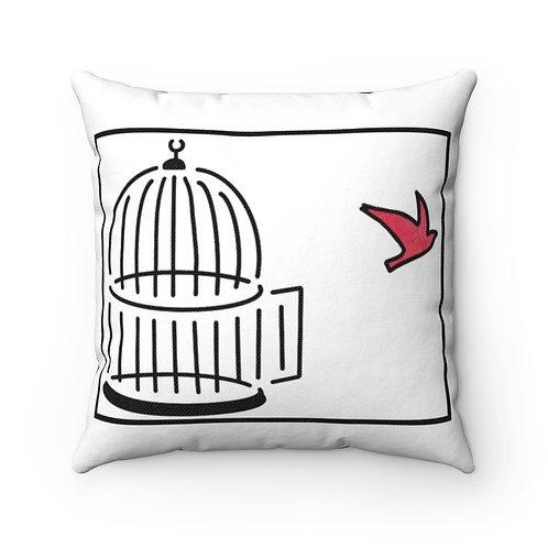 Farmhouse pillow cover, red bird cover, cardinal farmhouse pillow