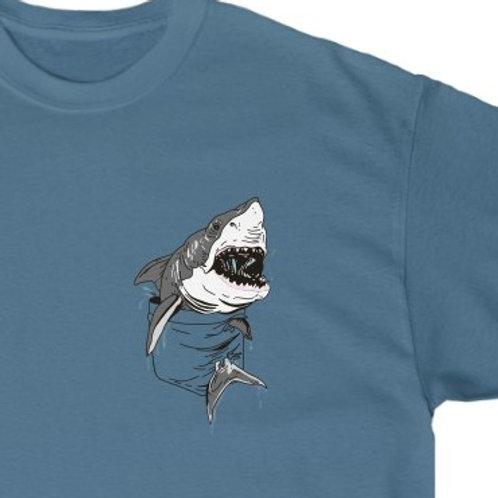 Cute Shark shirt, cute graphic tee, pocket tee, shark shirt