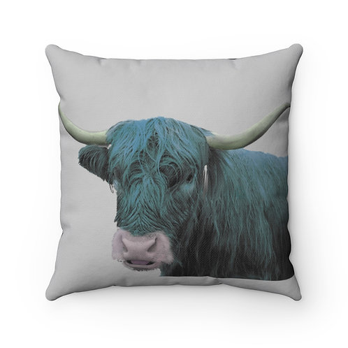 Cow Pillow Cover, Winter Pillow, Bovine cover, Barn Pillow cover