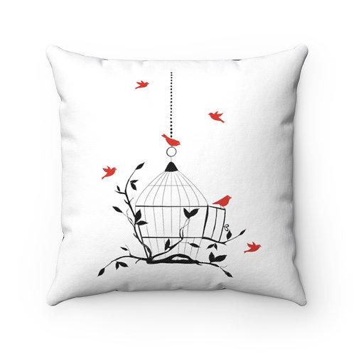 Farmhouse pillow cover, birdcage cover, farmhouse pillow