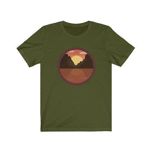 Fun Hiking shirt, Happy Camper Shirt, Mountain tee, Camping shirt, Sunset tee