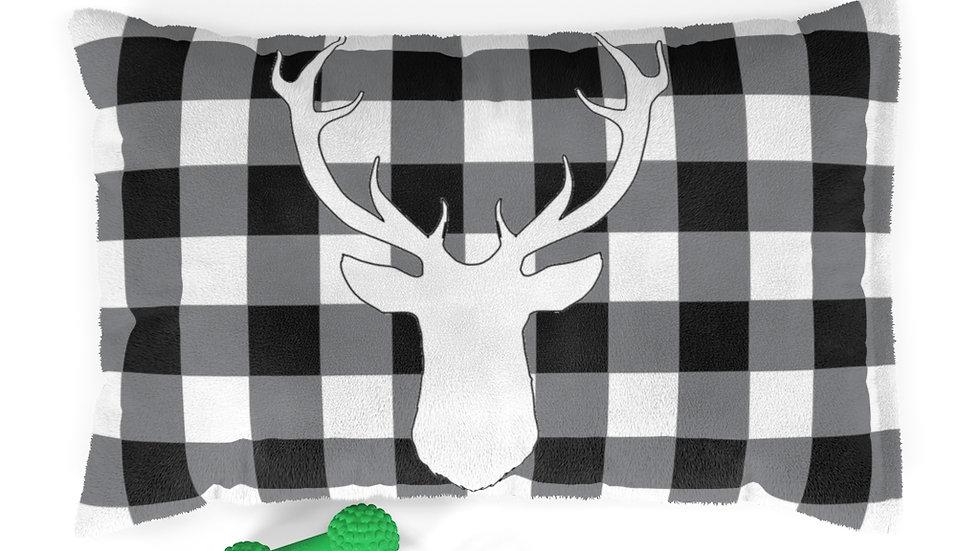 Farmhouse Dog Bed, buffalo plaid Pet Bed