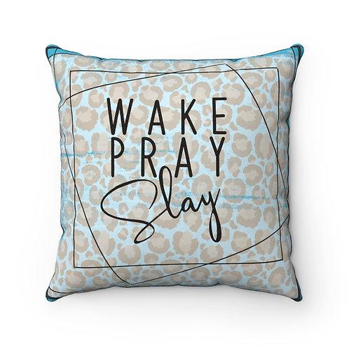 Wake Pray, Slay, Baby Girl, Pillow cover,Christian Baby Decor, Christian
