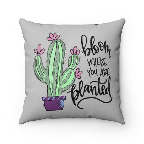 Farmhouse pillow cover,Cactus cover, farmhouse, bloom where you are planted