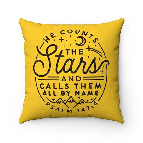 Psalm 147:4, Decor, Camping Pillow, RV Decor, Camper Gift, Travel Trailer Pillow
