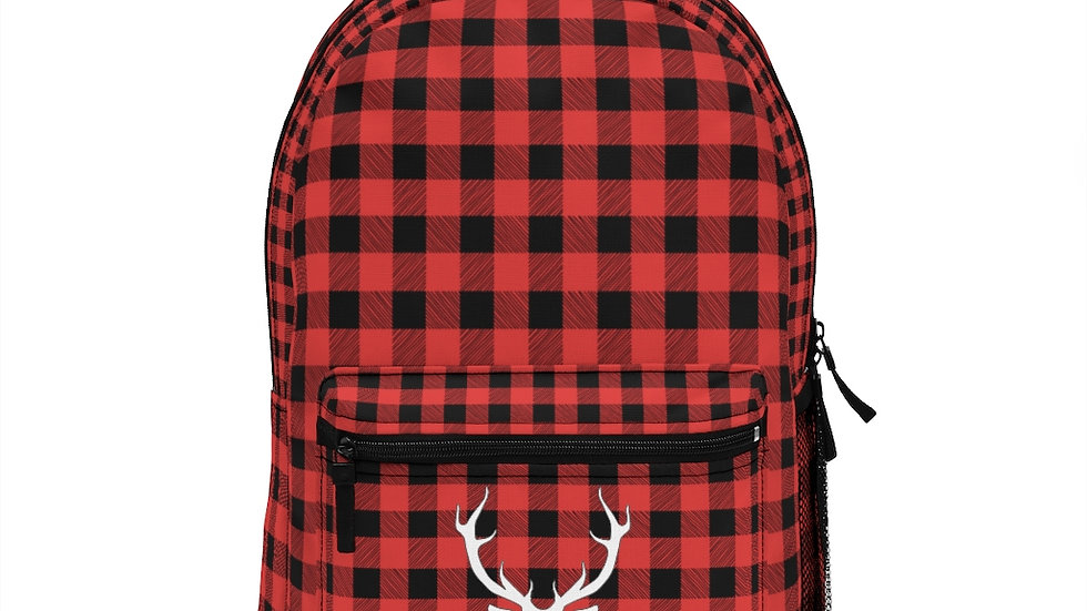 Buffalo Plaid Pattern Back Pack, Red and Black Plaid Bag