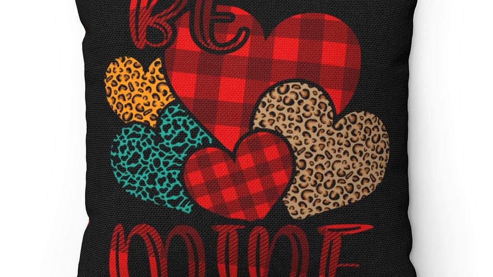Be Mine, Valentine Decor, Farmhouse Buffalo Plaid decor, Plaid Pillow Case