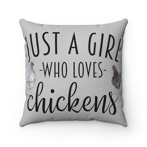 Farmhouse Chickens, Buffalo Plaid cover, Just a Girl, Who Loves Chickens
