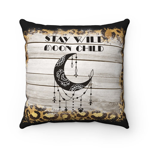 Stay wild, Moon child, Cushion Cover, Polyester Cushion, Witch Cushion