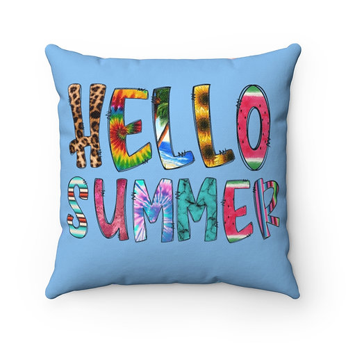 Hello Summer, happy summer, Summer Pillow cover, Summer decor