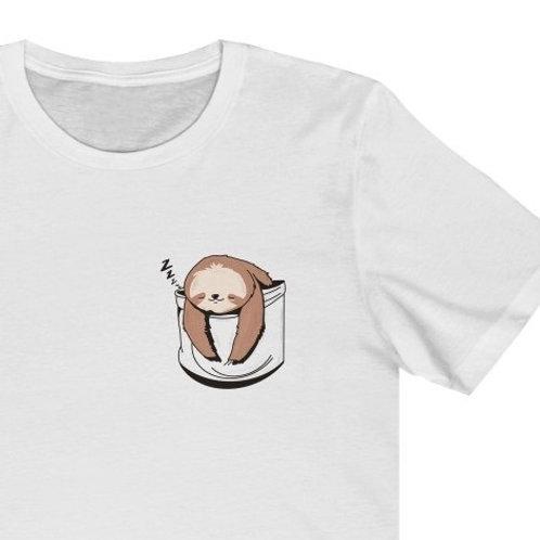 Sleeping sloth tee, Sloth shirt, funny animal tshirt