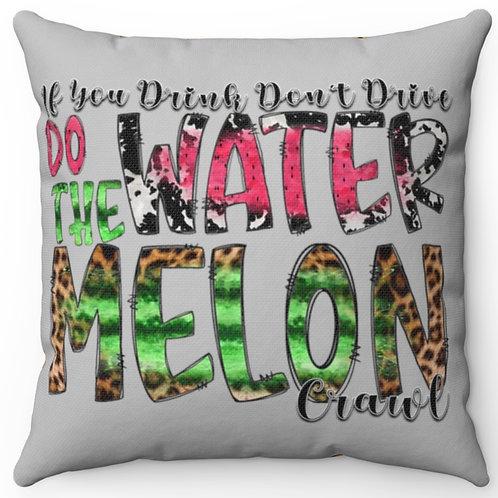 Watermelon Crawl Decor, Watermelon Pillow cover