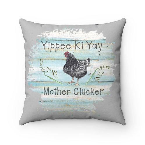 chicken Pillow Cover, farmhouse pillow cover, mother clucker cover