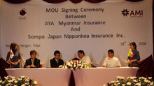 MOU between Aya Myanmar Insurance and Sompo Japan Nipponkoa Insurance Inc.