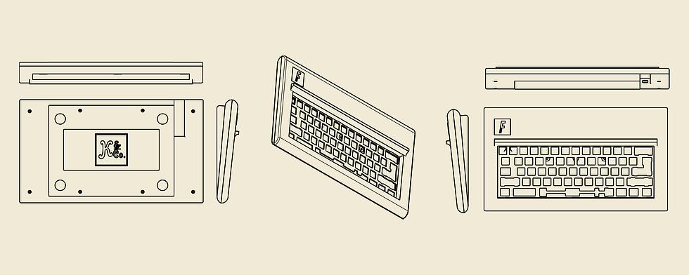 Modern F Assembled Diagram Off White BG.