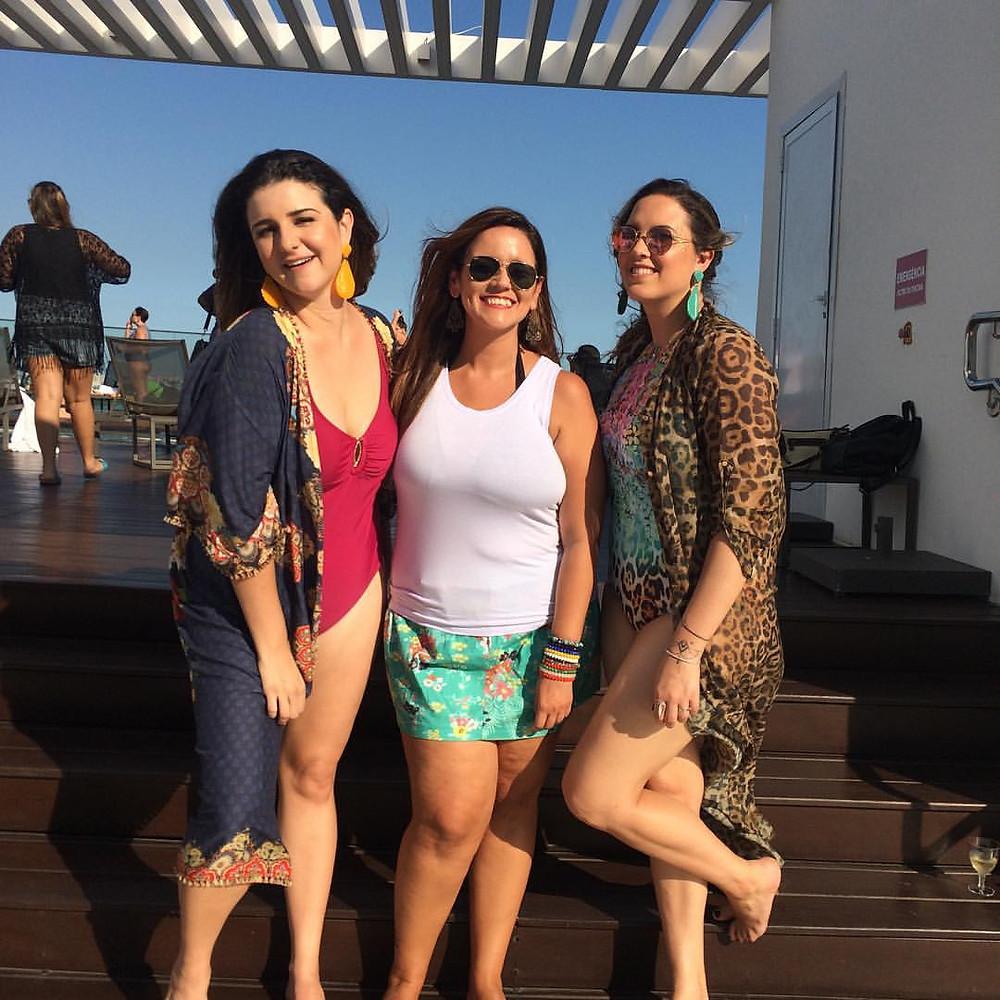 Com as donas da festa, Joana Cannabrava e Carla Paredes