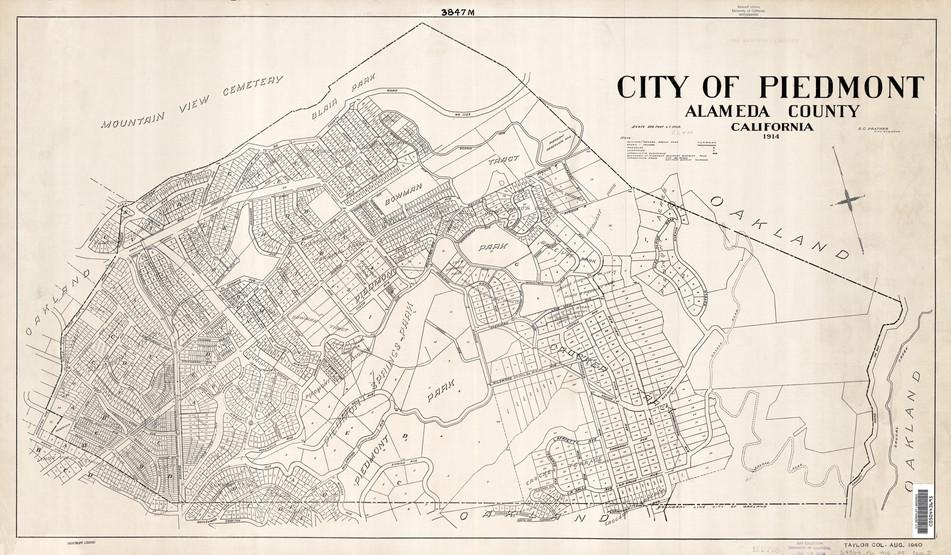 Piedmont - Maps 1914 city