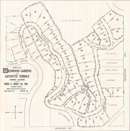 1918 Map of Wildwood Gardens and Lafayette Terrace, Piedmont, California._.jpg