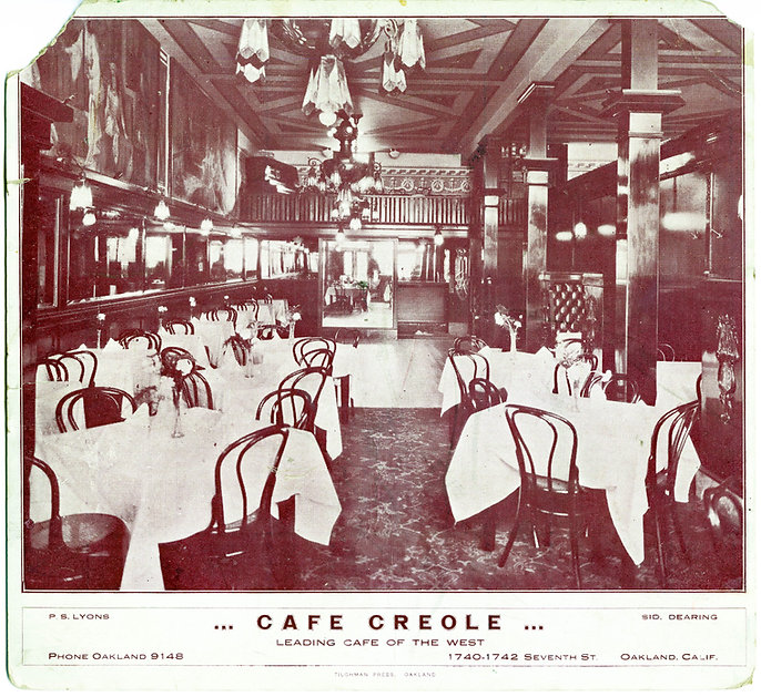 MS 179 Box 33 Folder 5 Cafe Creole Photo