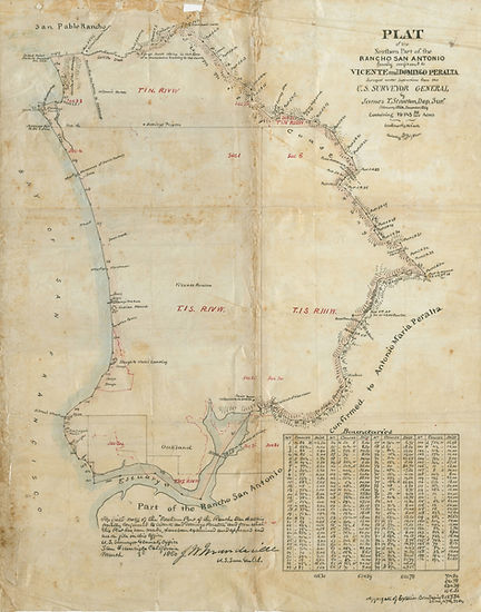 1850s Peraltas land - Plat_of_Northern_P