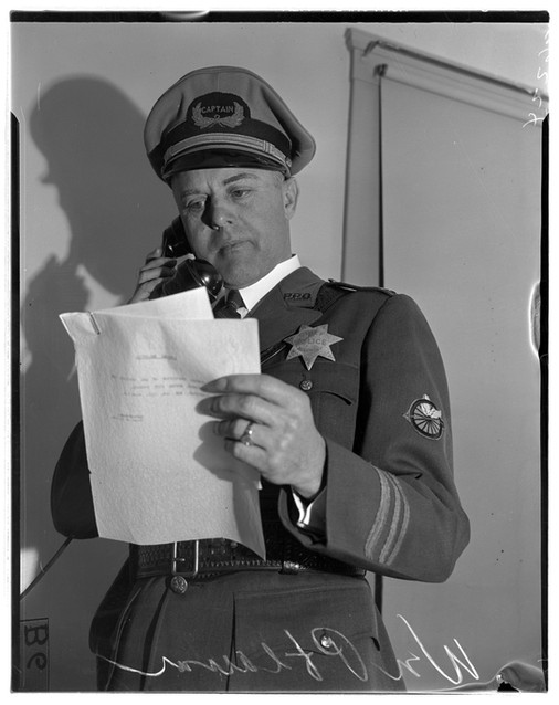 1938 William V. Pflaum, new Chief of Police, Piedmont