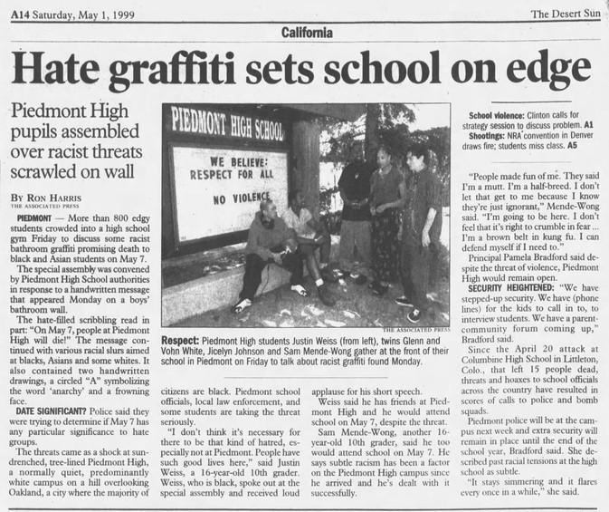 Hate graffiti - The_Desert_Sun_Sat__May_