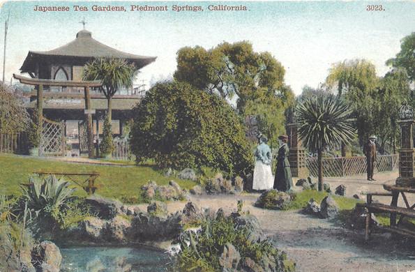 Japanese tea garden in piedmont springs.