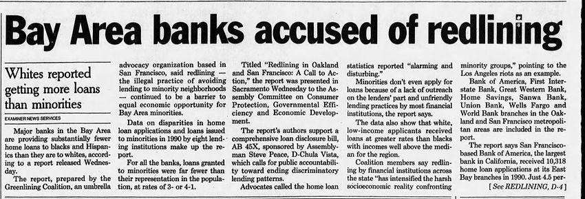 Redlining - Bay Area banks - The_San_Fra