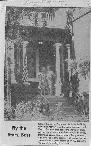Year before piedmont historical society