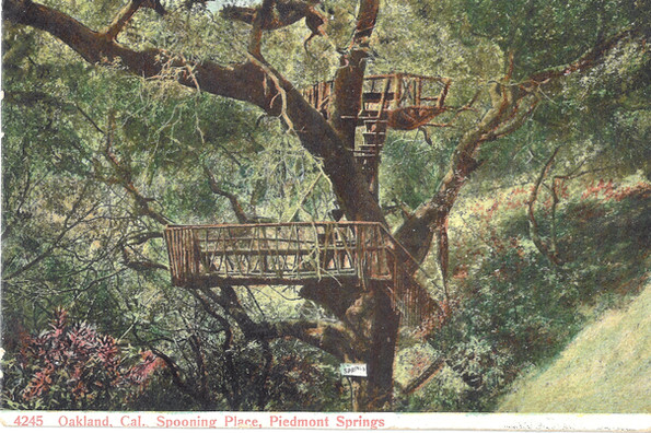 Postcard - Piedmont Park - Spooning plac