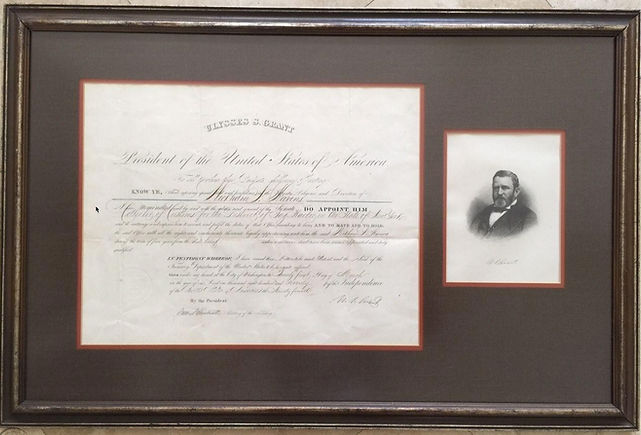 A document Signed by Ulysses S. Grant da