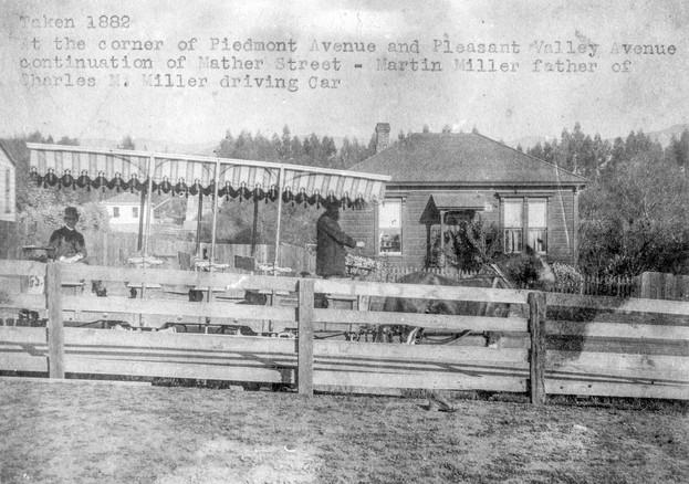 1882 - Taken 1882. At the Corner of Piedmont Avenue and Pleasant Valley Avenue, continuati