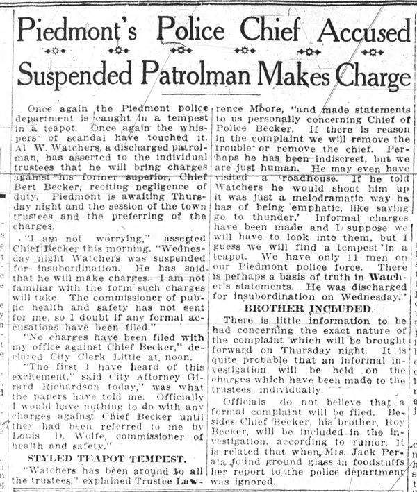 becker in trouble - Oakland_Tribune_Tue__Oct_15__1918_.jpeg