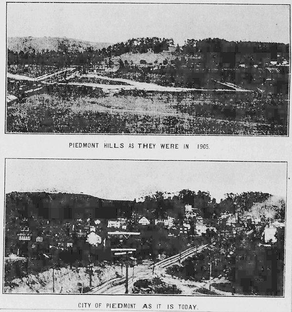 Piedmont hills today 1911 vs 1905 - Alam
