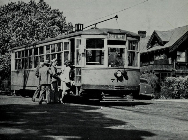 COVER PHOTO- The small 700-series cars were rebuilt from center- door, two-man cars. They