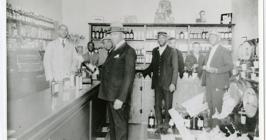Interior of Slim Jenkins' liquor store,