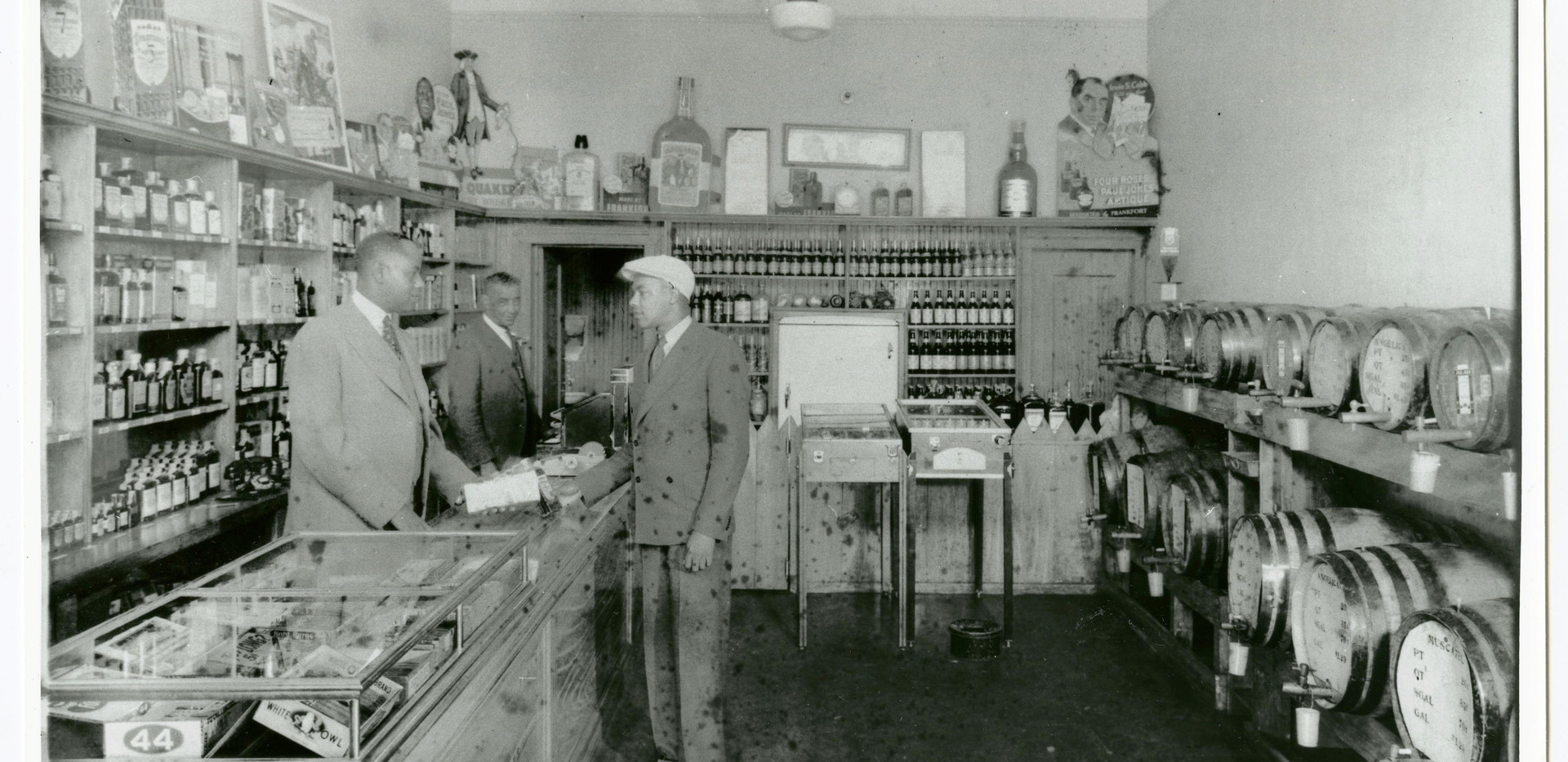 Interior of Slim Jenkins' liquor store,