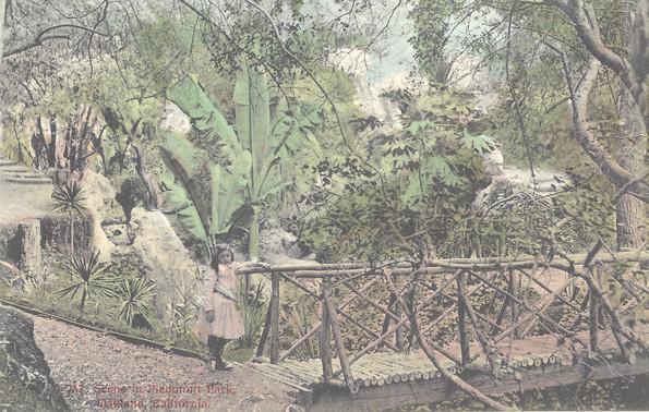 Postcard - Piedmont Park - Canyon bridge