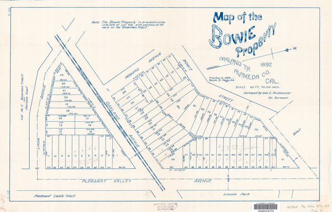 1892 - Map of the Bowie Property, Oakland Tp., Alameda Co., Cal., 1892.jpg