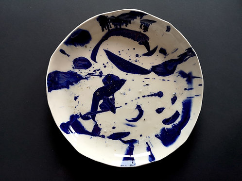Bleu assiette grès ©Fanfan