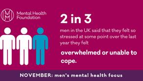 November is men's mental health month